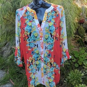 Fig and Flower Blouse M